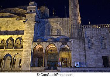 Blue mosque in Istanbul. Night scene.