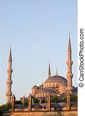 Blue Mosque in Istanbul - Blue Mosque (Sultan Ahmet Camii)...