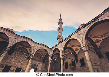 Blue Mosque in Istanbul. Sunset time