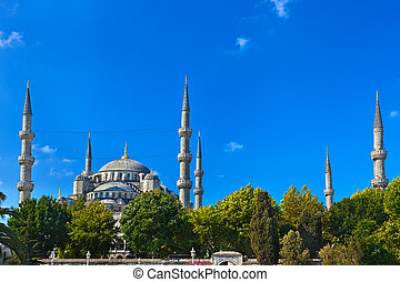Blue mosque in Istanbul Turkey