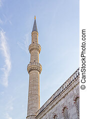 Blue mosque  minaret, Istanbul