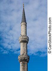 Blue Mosque minaret, Istanbul, Turkey