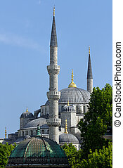 Blue Mosque, view from Sultanahmet, Istanbul, Turkey