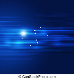Blue Motion Technology Abstract Background - blue motion...
