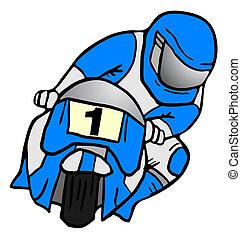 Blue moto