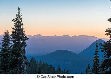 Blue Mountain Ridge at Sunset