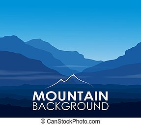 Blue mountains at dawn. Vector landscape background