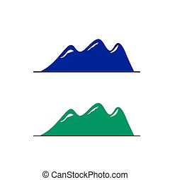 Blue mountains geometric sign, symbol