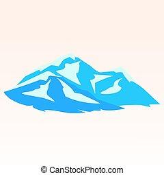 Blue mountains. Symbolic image
