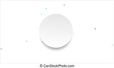 Blue moving circles and blank label video animation