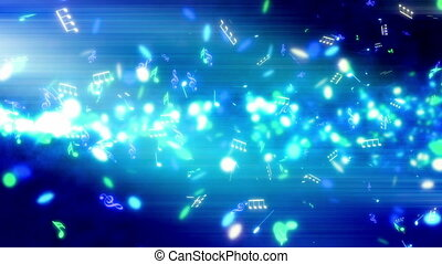 Blue Music Streak Loop - Blue Music Streak Looping Animated...