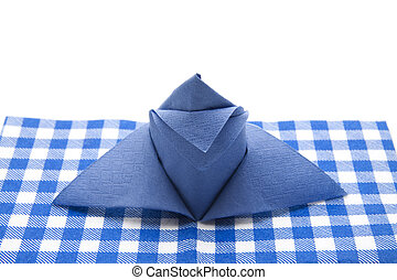 Blue napkin