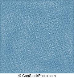 Blue Natural Cotton Fabric. Textile Background. Vector