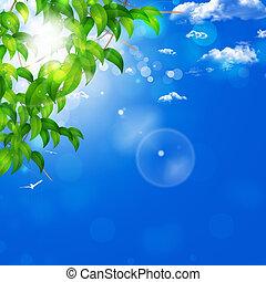 Blue Nature Background