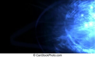 blue nebula and whirl laser, energy tech background. ...