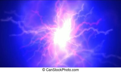 blue nebula and whirl laser