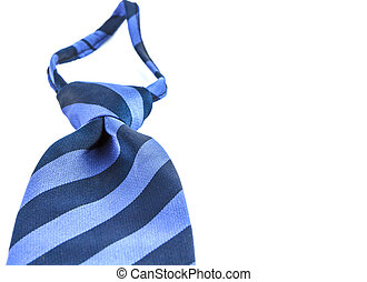 Blue neckties on white background
