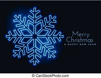 blue neon snowflakes background design
