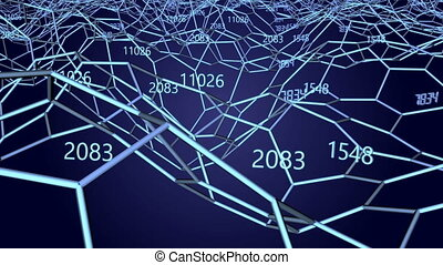 Blue network and numbers
