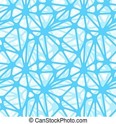 Blue neural net, seamless pattern