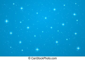 Blue night horizontal background. Abstract vector template