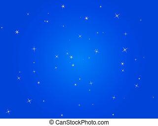 blue night sky with stars
