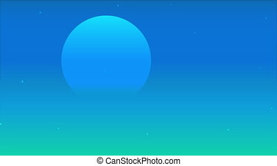 blue night sky with translucent moon