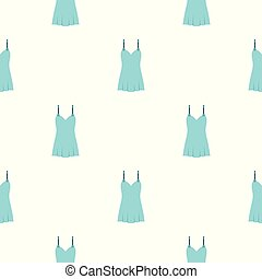 Blue nightie pattern seamless