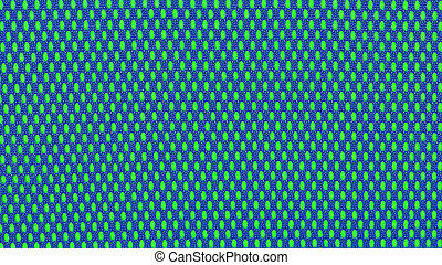Blue nonwoven fabric on a green