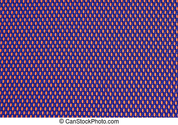 Blue nonwoven fabric on a orange