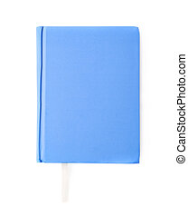 Blue note book isolated