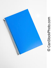 Blue notebook binder isolated