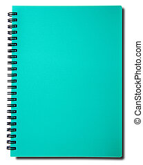 Blue notebook isolated on white background