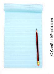 blue notepaper