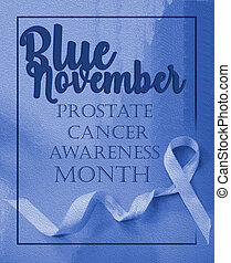 Blue november, prostate cancer awarenes month poster