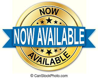 blue now available guarantee round golden web coin medal badge
