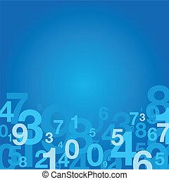 number background - blue number background