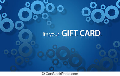 Blue object Giftcard - High resolution gift card graphic...