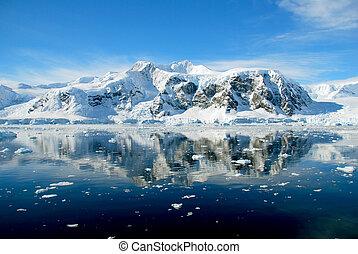 Blue ocean in antarctica