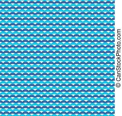 Blue ocean waves marine seamless pattern