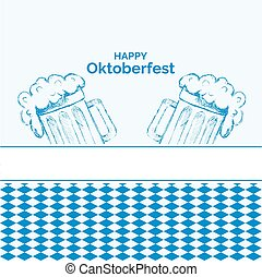 blue octoberfest background  for your design eps 10