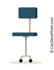 Blue Office Chair Icon.