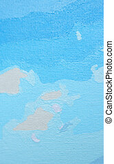 Blue oil color painted background