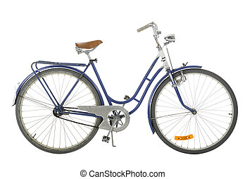 Blue Old fashioned bicycle