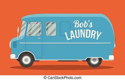 Blue old van