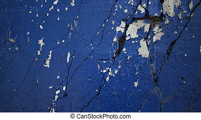 blue old wall