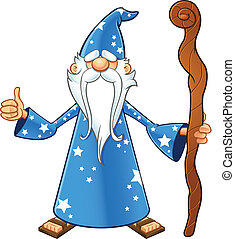 Blue Old Wizard - Thumbs Up