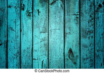 Blue Old Wood Background