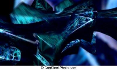 Blue on blue swirl