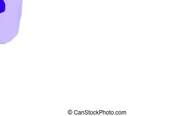 blue opaque liquid fills up screen, isolated on white full...